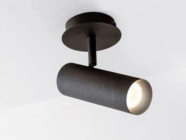 LED adjustable powder coated aluminium ceiling lamp STRAIGHT XL BASE