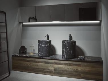 Floor-standing wooden vanity unit STRATO | Floor-standing vanity unit