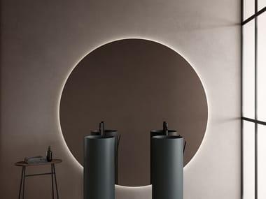 Specchio rotondo con illuminazione integrata STRATO | Specchio rotondo