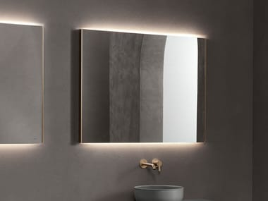 Wall-mounted mirror with integrated lighting STRATO | Wall-mounted mirror