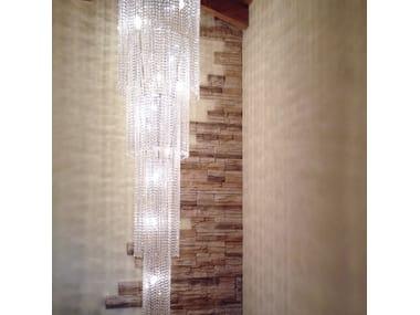 Lampada a sospensione a LED in cristallo STRATUS | Lampada a sospensione