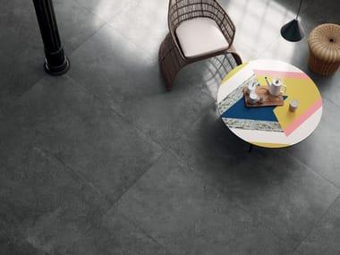 Pavimento/rivestimento in gres porcellanato effetto cemento STREET DARK