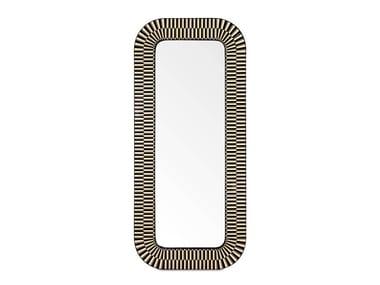 Freestanding rectangular framed mirror STRIKE