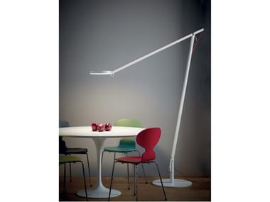 LED aluminium floor lamp with swing arm STRING XL