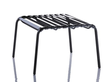 Steel footstool STRIPED | Footstool