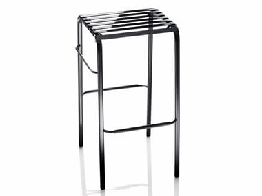 Stackable steel stool STRIPED | Stool