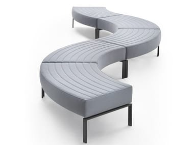Upholstered polyurethane bench STRIPES BENCH