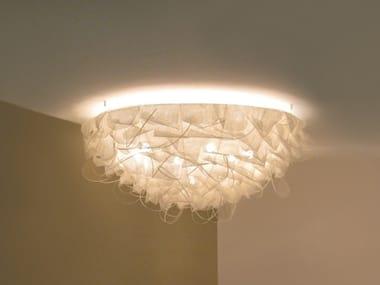 Handmade polyethylene and metal ceiling lamp STRUK C100/C150
