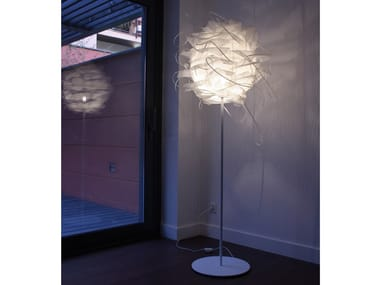 Handmade metal and polyethylene floor lamp STRUK F