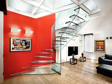 Glass Open staircase STRUKTURA