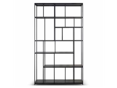 Open freestanding teak bookcase STUDIO