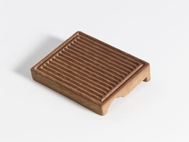 Iroko soap dish for towel holder STYLE | Iroko soap dish
