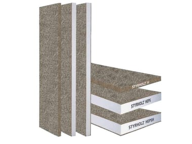 Natural insulating felt and panel for sustainable building STYRHOLZ ® BUILDING