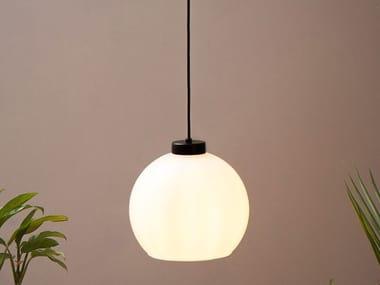Handmade glass and metal pendant lamp SUCURSAL S1