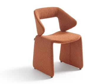 Upholstered fabric chair with armrests SUIT | Chair