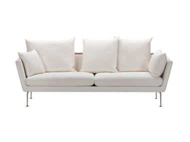 3 seater sofa with removable cover SUITA SOFA 3-SEATER WITH POINTED CUSHION