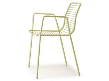 Stackable chair SUMMER | Chair with armrests