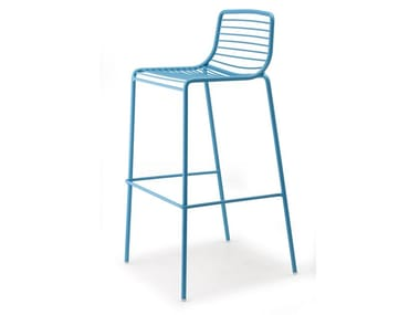 High steel garden stool with back SUMMER | Stool