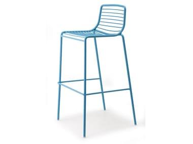 High steel garden stool with back SUMMER | Stool