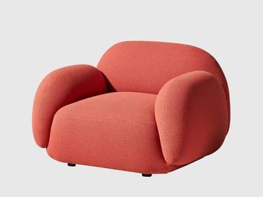 Fabric armchair with armrests SUNDAE | Armchair