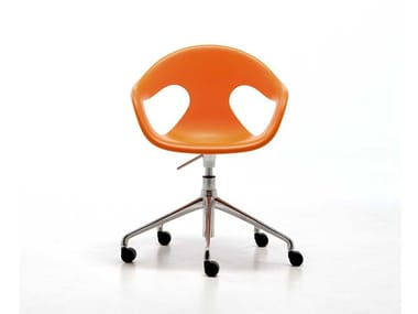 Sedia ufficio a 5 razze con ruote SUNNY PLASTIC HO | Sedia ufficio ad altezza regolabile