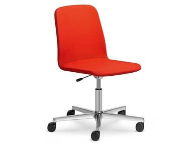 Sedia ufficio ad altezza regolabile con ruote SUNRISE 152-F37