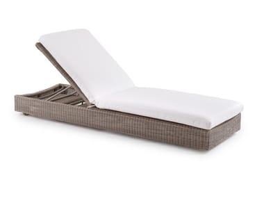 Tumbona de jardín reclinable de WaProLace® SUNSTRIPE | Tumbona de jardín