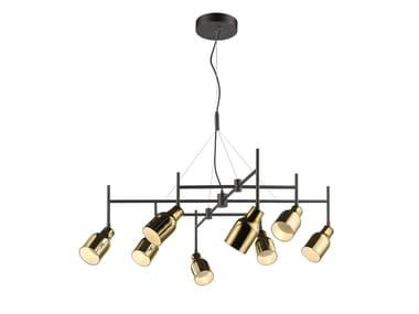 LED swivel glass pendant lamp SUPER 8