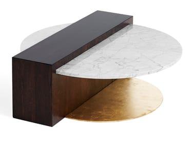 Mesa de centro redonda de mármore SUPREME | Mesa de centro