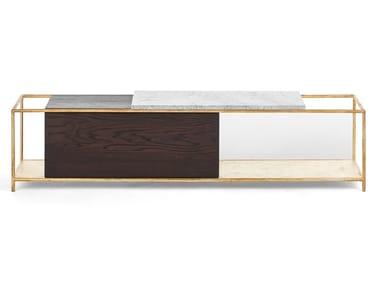 Buffet dupla face de madeira maciça com gavetas SUPREME | Buffet