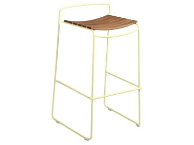 High stackable sled base stool SURPRISING | Teak stool