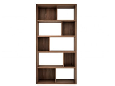 Open walnut bookcase SWAN | Bookcase