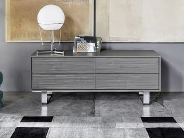Walnut sideboard with drawers SWEET 84