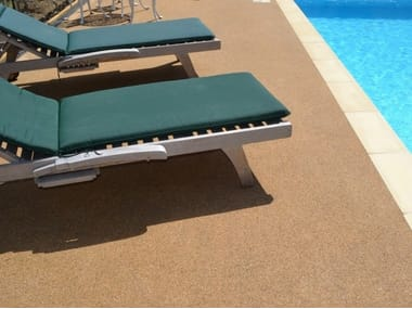 Draining resin Outdoor continous flooring POOL SURROUNDS
