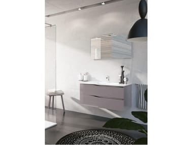 Wall-mounted vanity unit with mirror SWING 07