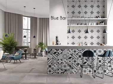 Porcelain stoneware wall/floor tiles with encaustic effect SWING