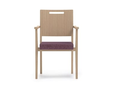 Stackable fabric chair with armrests SWING | HEALTH & CARE | Chair with armrests