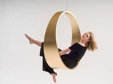 Swing gold / silver leaf armchair SWING N.2 | Armchair