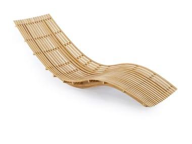 Tumbona de jardín apilable de teca SWING | Tumbona de jardín