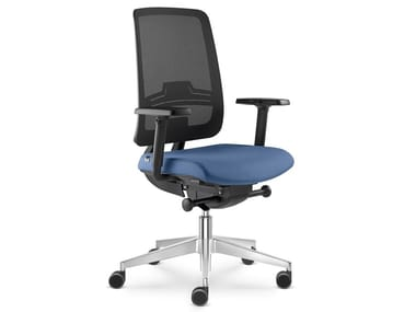 Task chair with 5-Spoke base with castors SWING | Task chair with armrests