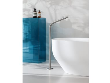 Floor standing stainless steel bathtub spout SX | Bathtub spout