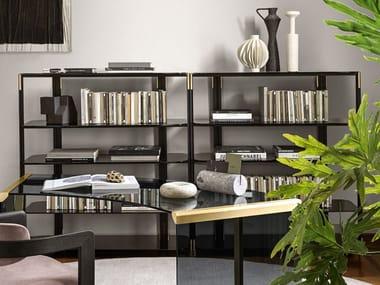 Aluminium and wood bookcase SYIL