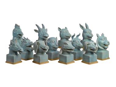 Porcelain sculpture SYMBOLIC HEAD