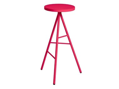 Metal garden stool with footrest SYMPLE | Stool