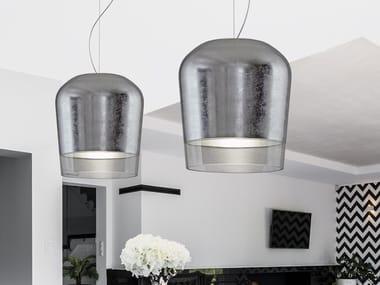 Pendelleuchte aus Aluminium und Glas SYSS | Pendelleuchte