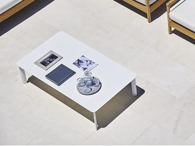 Rectangular HPL garden side table SYSTEM | Rectangular coffee table