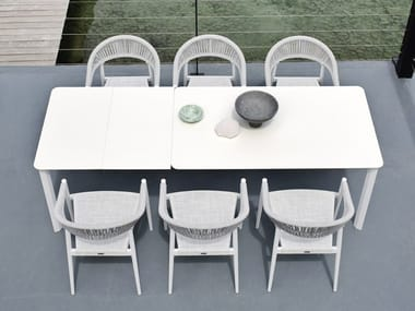 Rectangular garden table SYSTEM | Garden table