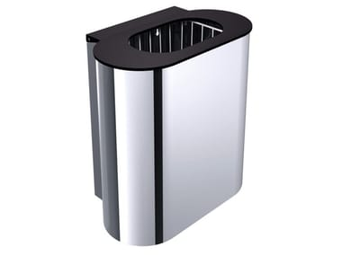 Stainless steel bathroom waste bin SYSTEM2 | Stainless steel bathroom waste bin