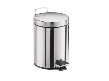 Stainless steel bathroom waste bin SYSTEM2 | Stainless steel bathroom waste bin