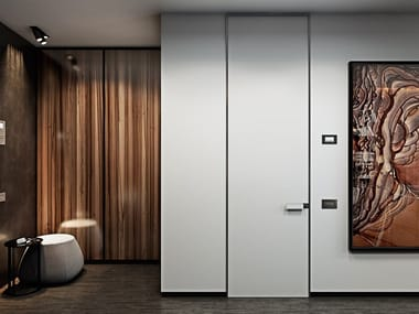 Safety door with concealed hinges Safety door